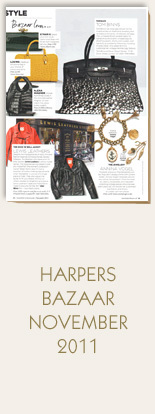 Annina-Vogel-Jewellery-Harpers-Bazaar-November-2011-Bespoke-Vintage-Gold-Charm-Bracelet-and-Long-Signature-Charm-Necklace-Anchor-Crown-Eiffel-Tower-PadlockCar-St-Christopher-Apple-Core
