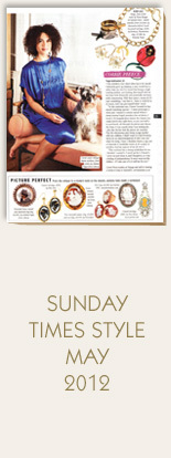 Annina-Vogel-Jewellery-Sunday-Times-Style-May-2012-Essex-Crystal-Diamond-Dog-Ring-and-Corrie-Preece-wearing-Long-Signature-Gold-Charm-Necklace